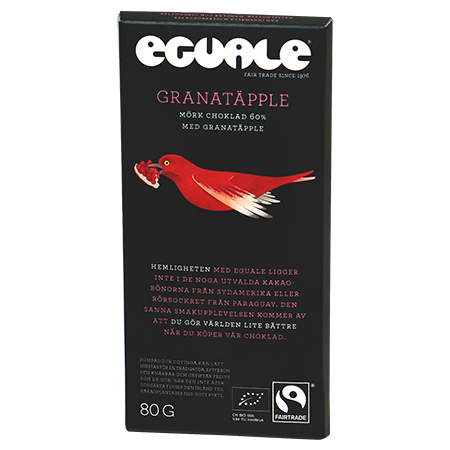 Eguale Granatäpple mörk choklad 60%