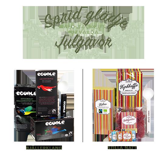 Årets julgåvor från Sackeus - Fair trade och ekologiska godsaker