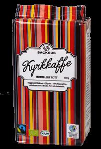 Sackeus Kyrkkaffe, Fairtrade och ekologiskt bryggkaffe