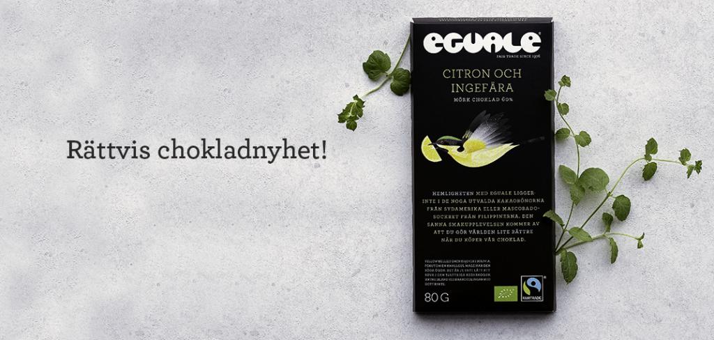 Rättvis chokladnyhet - Eguale Citron och ingefära